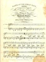 """Sheet Music of """"A Life on the Ocean Wave"""" published in 1940"""