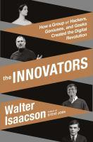 book cover for The innovators