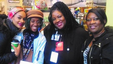 Four Black Cultural Library Advocates staff members