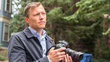 Matthew Desmond with camera