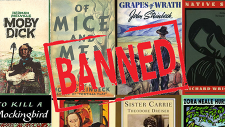 Cover images and the word banned