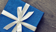 Wrapped gift with bow