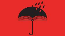 part of festival logo featuring umbrella