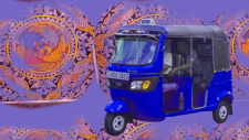 Artwork with vehicle