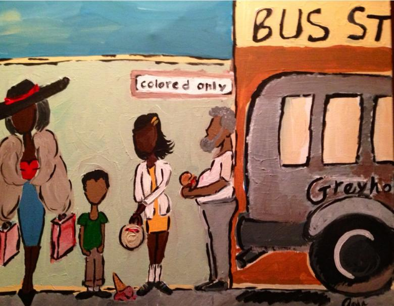 Painting by Aasha Benton