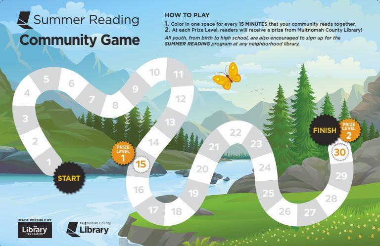 Gameboard for Summer Reading Community Game