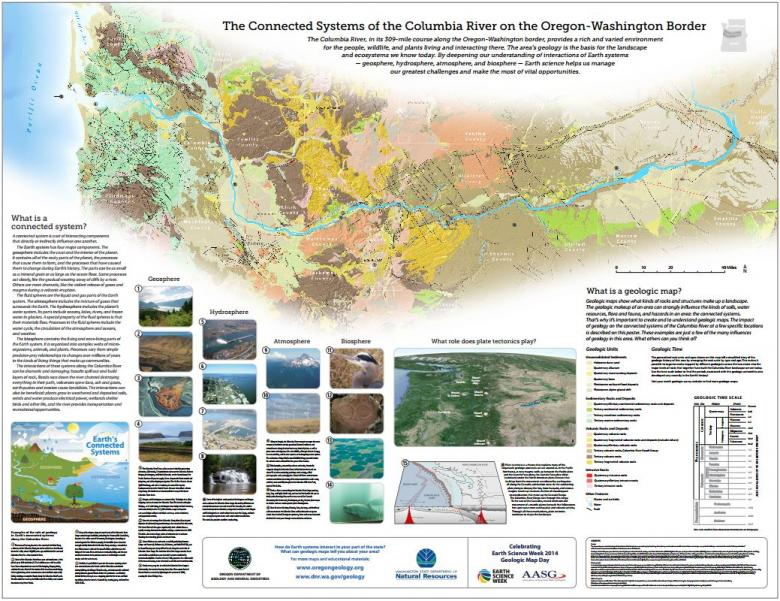 The Connected Systems of the Columbia River on the Oregon - Washington Border, from Oregon DOGAMI
