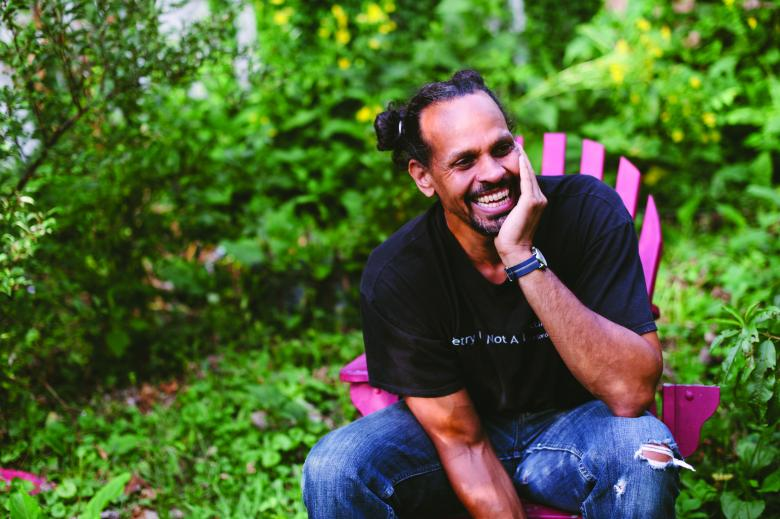 Author Ross Gay, photo copyright Natasha Komoda
