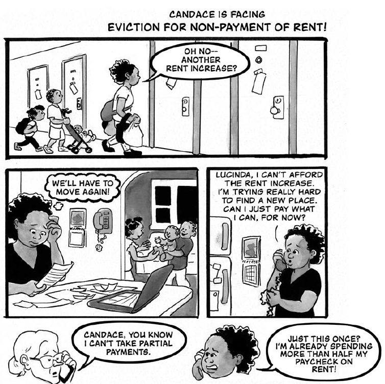 "Image from ""Know Your Rights"" from CAT and Know Your City, illustrated by Betsy Hawkins"