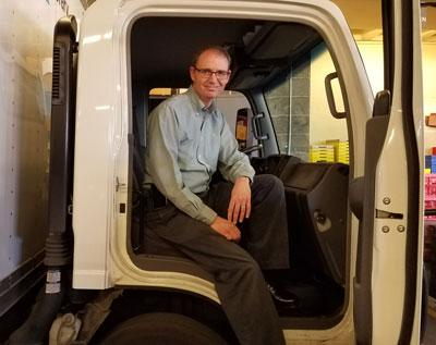 Rod Madison in a truck