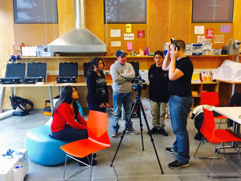 Makerspace teens: filmmaking