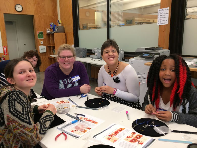 Makerspace teens creating