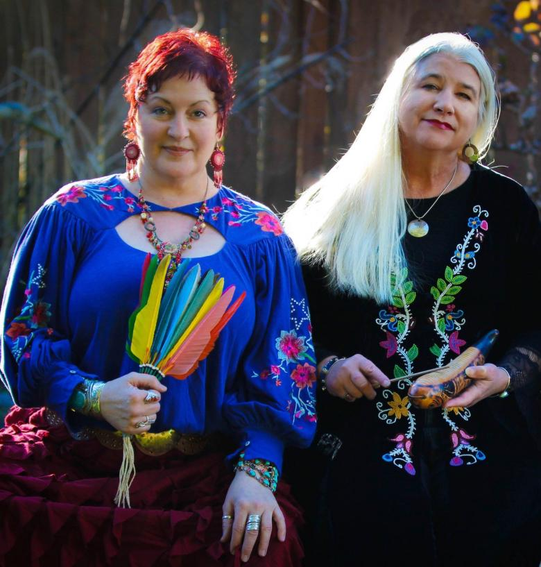 Members of the musical group The Prairie Blossoms