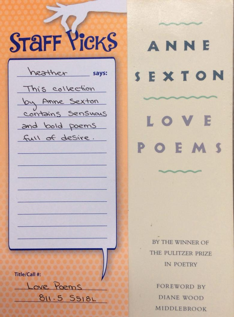 cover image of anne sexton love poems
