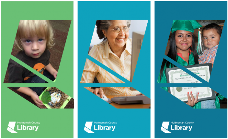 New library banners