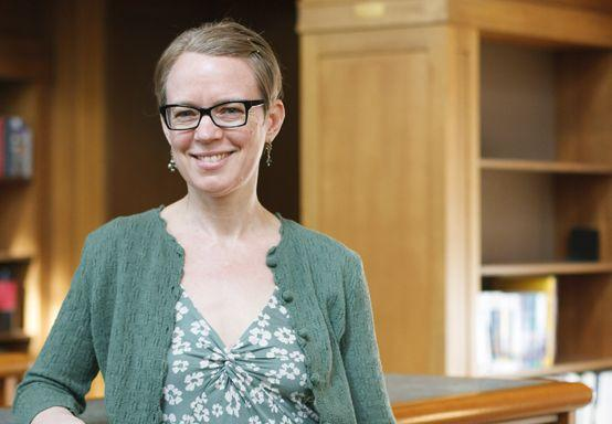 photograph of Emily-Jane D., a librarian at Multnomah County Library
