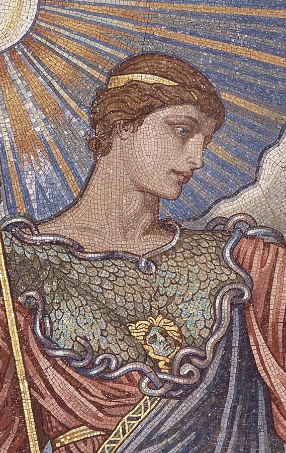 Depiction of Minerva by Elihu Vedder (1836-1923)