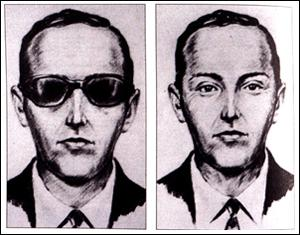 Artist's drawing of D.B. Cooper.