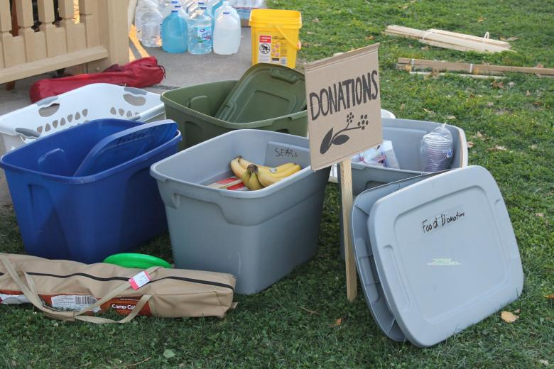 Photograph of donation boxes, by Flickr user Joe Schueller.