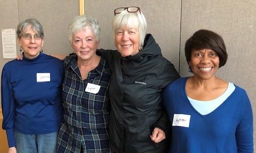 Tutors from left: Zarina Jackson, Lynn Alderman, Melissa Madenski and Katie Booker