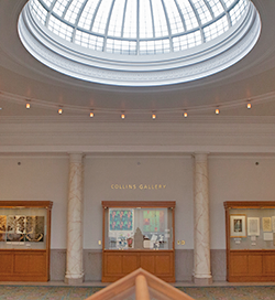 Inside the Collins Gallery at Central Library