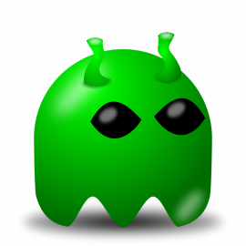 Video game cartoon alien