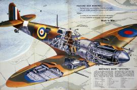 Second World War- Spitfire - cut out view