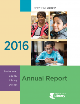 2016 Annual Report cover image