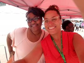 Two library employees at the Pan African Festival 2017