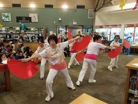 Dancing demonstration at library event