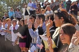 Naturalization ceremony at the Grand Canyon, 24 September 2010.