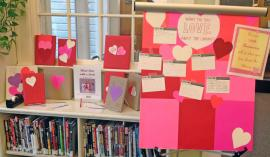 Love letters to the library from patrons of Belmont Library