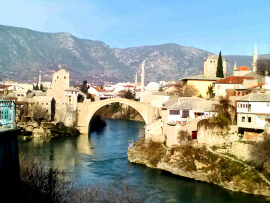 Stari most or The Old Bridge in Mostar, Herzegovina