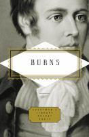 Burns: Poems book jacket