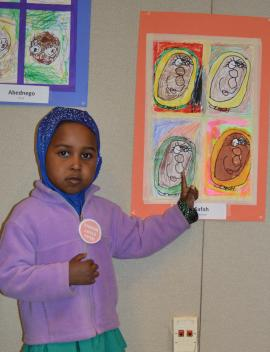 Markham Head Start self portraits