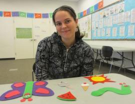 volunteer Christina Hammett