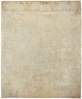 Declaration of Independence, National Archives