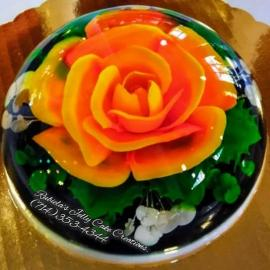 Edible Gelatin Art Rose