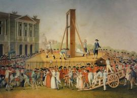 painting of the execution of Marie Antoinette