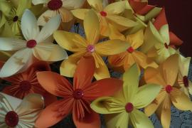 Five Petal Origami Flowers