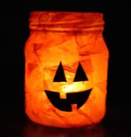 Jack o Lantern Jar