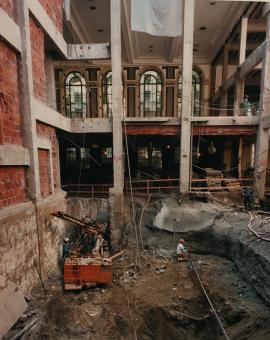 Caption: Central Library renovation (1994-1997)