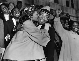 Dr. King and Coretta Scott King