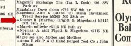 1934 city directory listings for the Magedanz family