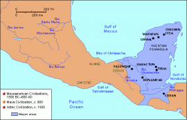 Map of Mesoamerica, Maya