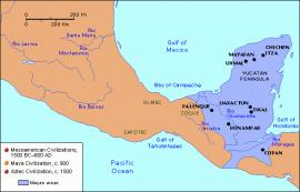 Map of Mesoamerica, Maya