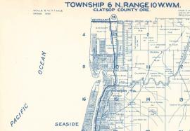 Detail of sheet 27, which includes the city of Seaside, Metkser's Atlas of Clatsop County, 1930.