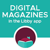 Logo for and link to Libby/OverDrive for magazines