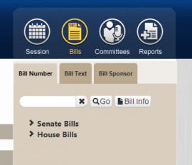Oregon State Legislature Bill and Reports Icons