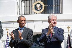 President Obama and former President Clinton at the White House, September 2014